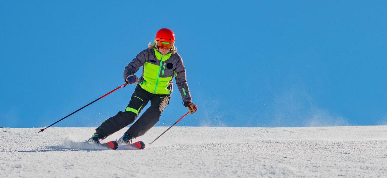 a ski instructor while skiing alone xa3xfbn